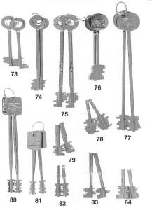 Kassaskåpsnycklar nr 73-84
